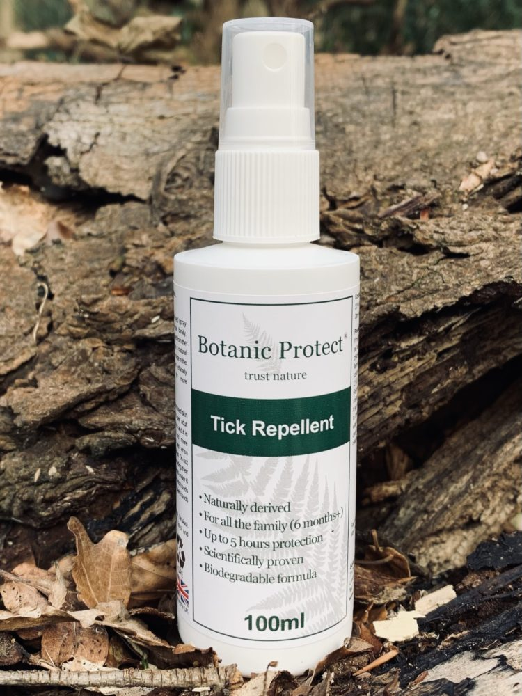 Bottle of Botanic Protect tick repellentct