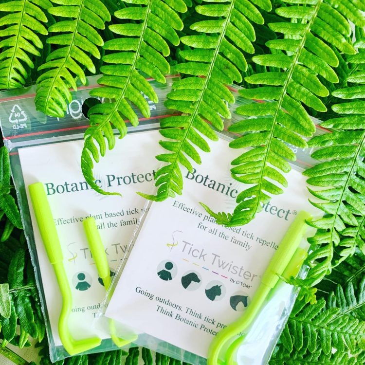A photo of Botanic Protect tick removers in braken